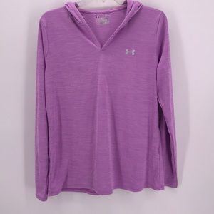 UNDER ARMOR VIOLET ATHLETIC PULL OVER HOODIE LARGE